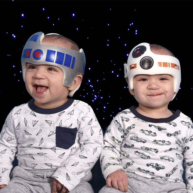 positional plagiocephaly remodeling helmets star wars r2-d2 bb-8