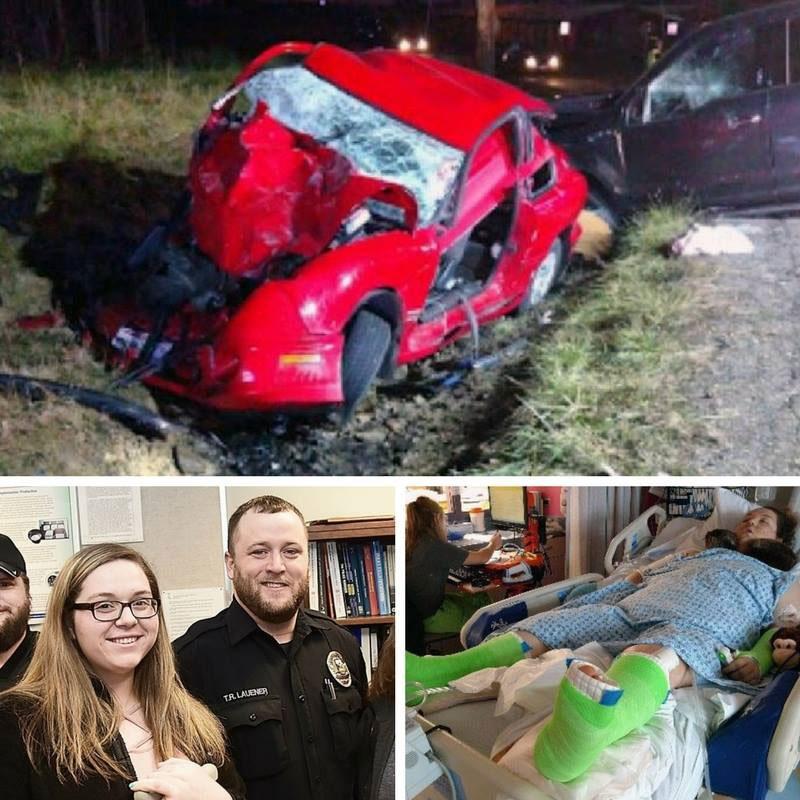 accident broken bones Tye Lauener Rybecca Rennie alliance police