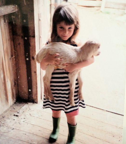 Dr. Siedlecki and goat