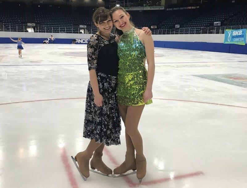 pfeffer and mom figure skating