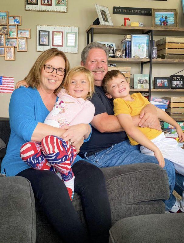 Gayle Zimmerman and grandchildren