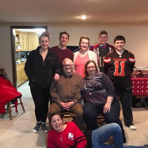 Julie Madden, husband Jim and grandchildren