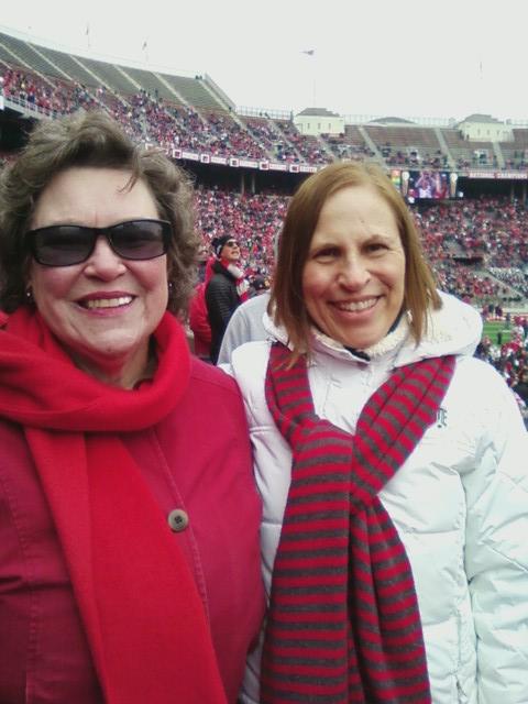 Alice Balasco and friend at OSU game