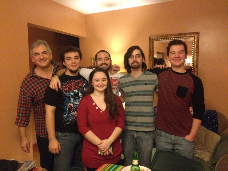 Chuck Reid with his 5 children