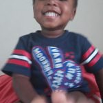 Karson George laughing, sickle cell