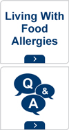 Living with food allergies and Q and A