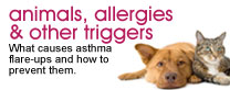 Animals, allergies and other triggers: What causes asthma flare-ups and how to prevent them.
