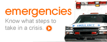 Emergencies: Know what steps to take in a crisis.