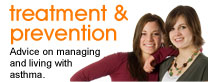 Treatment and prevention: Advice on managing and living with asthma.