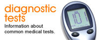 Diagnostic tests: Information about common medical tests