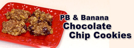PB & Banana Chocolate Chip Cookies