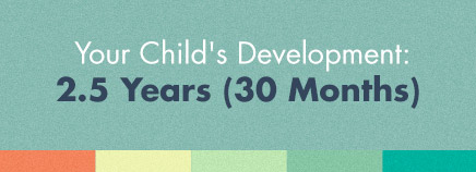Your Child's Development: 2.5 Years (30 Months)