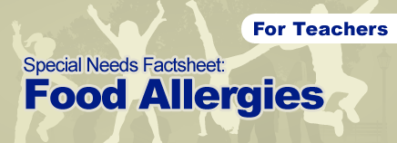 Food Allergies Special Needs Factsheet