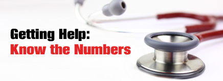Getting Help: Know the Numbers