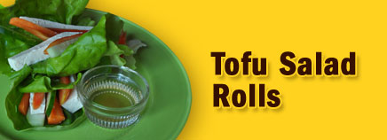 Tofu Salad Rolls With Sweet and Tangy Dressing