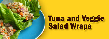 Tuna and Veggie Salad Wraps