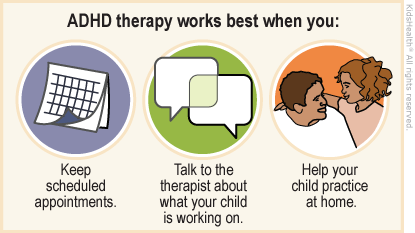 Illustration: ADHD therapy support