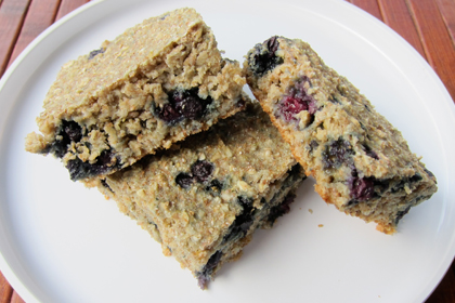 valentines day - blueberry squares