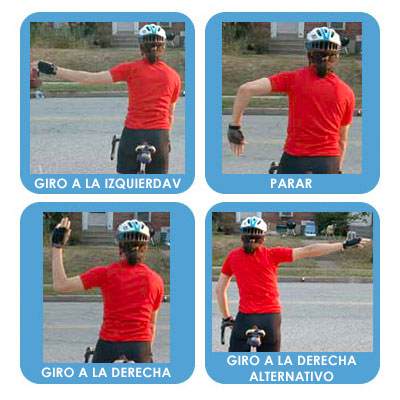 Bike Safety Signs Spanish