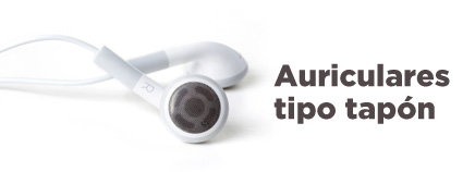 Auriculares tipo tapón