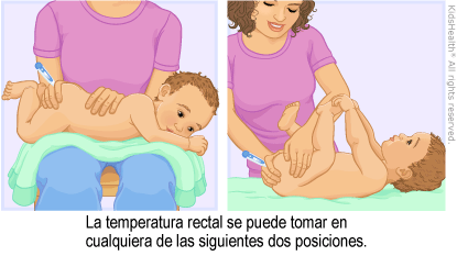 Illustration: Taking a Rectal Temperature